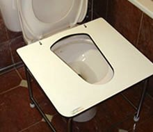 installation of toilet squatting platform