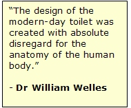 The modern toilet is not designed with the human anatomy in mind...