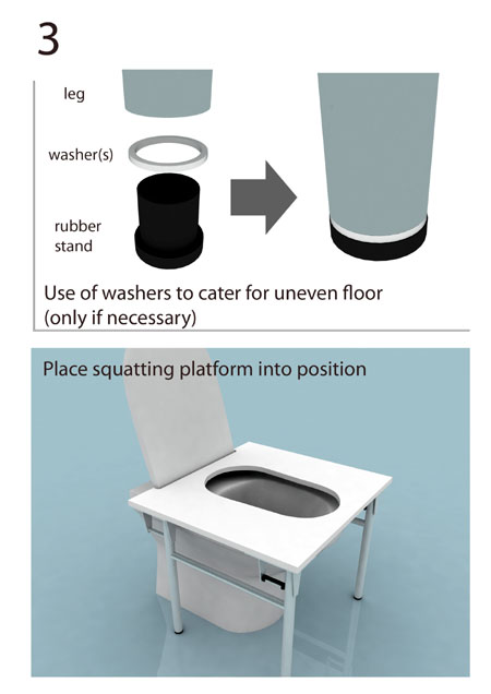 Toilet Platform For Squatting