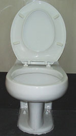 sitting toilet, western toilet, water closet