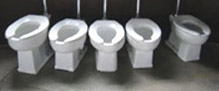 sitting toilets