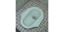 squat toilet, squatting toilet