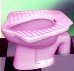 Turkish toilet, pedestal squat toilet, alafranga