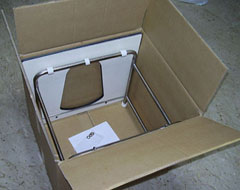 toilet squatting platform packed in box
