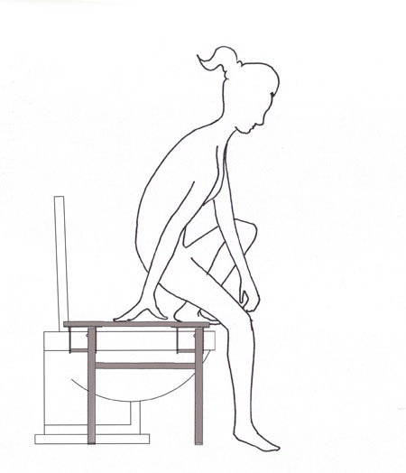 how to use squatting platform, step 2
