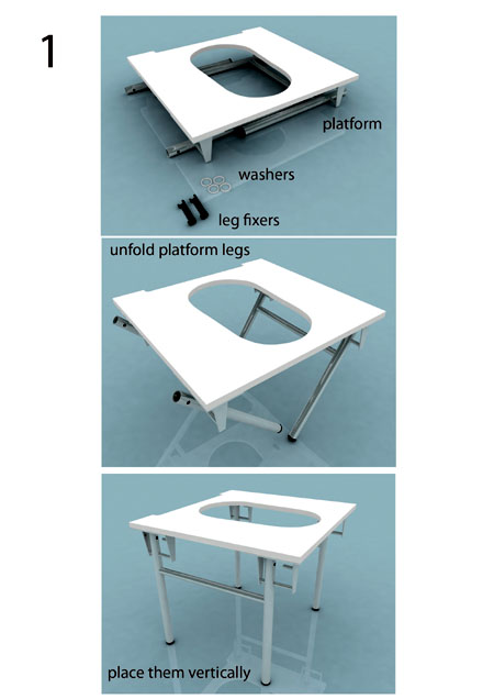 new squatting platform, step 1