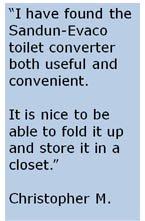 toilet converter testimonial, sandun-evaco