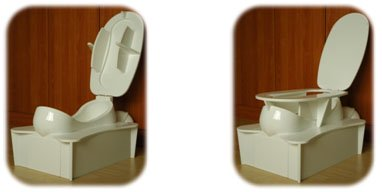sit squat toilet, sitting and squatting toilet, hybrid sitting and squatting toilet