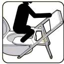 step 3 for toilet converter, squatting device
