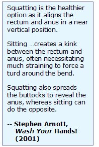 quotation about squatting, why squatting is better than sitting