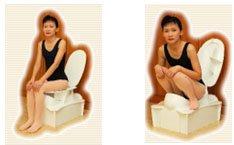 use of sit squat toilet
